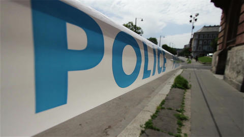 Police Closed Area 1 Stock Video Footage