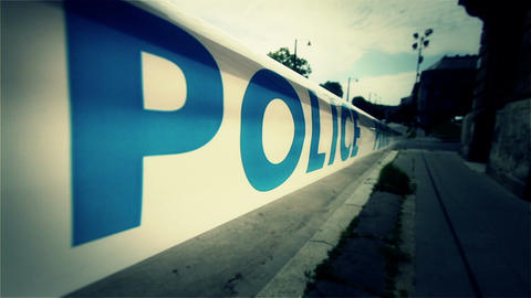 Police Closed Area 3 styilzed Stock Video Footage