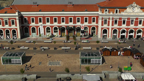 Principe Pio Madrid Spain 1 aerial Stock Video Footage
