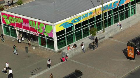 Principe Pio Metro Station Madrid Spain 2 aerial Stock Video Footage