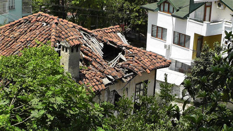 Ruined Building in Turkey Stock Video Footage