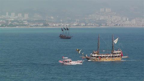 Ships in Turkey 2 Stock Video Footage
