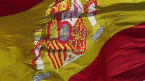 Spanish Flag native slowmotion 2 Stock Video Footage