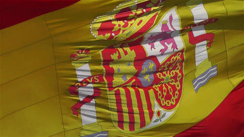 Spanish Flag native slowmotion 2 Stock Video Footage