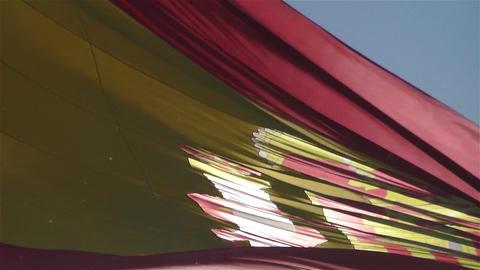 Spanish Flag native slowmotion 4 Stock Video Footage