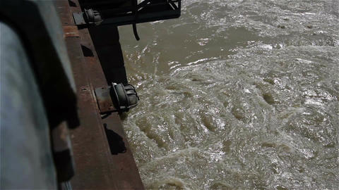 Strong Flood River Current 3 Stock Video Footage