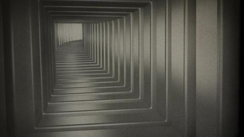 Tunnel Flythrough v 2 14 vintage Stock Video Footage