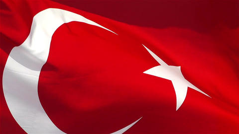 Turkish Flag native slowmotion Footage