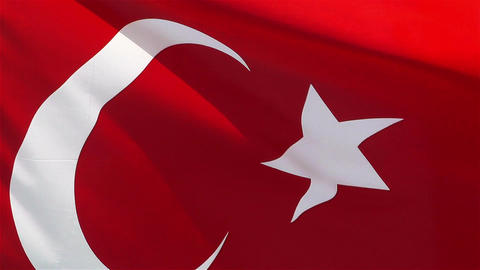 Turkish Flag native slowmotion Stock Video Footage