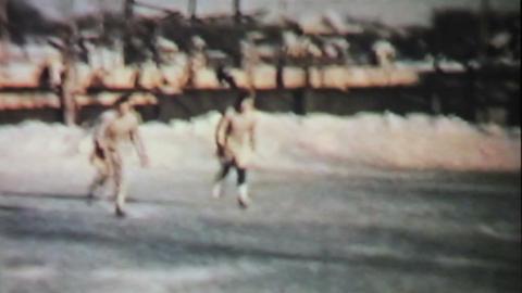 Teenage Girls Skating In Winter 1958 Vintage 8mm Stock Video Footage