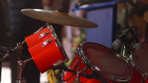 Boy Plays on Drum 4 Stock Video Footage