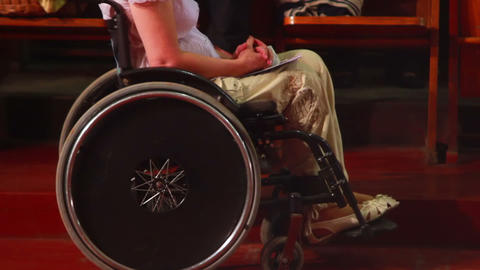 Man In Wheelchair 1 stock footage