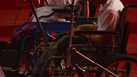 Man in Wheelchair 3 Stock Video Footage