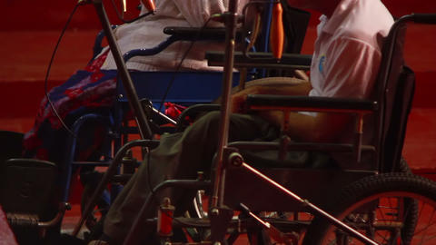 Man In Wheelchair 3 stock footage