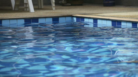 Man in pool Stock Video Footage