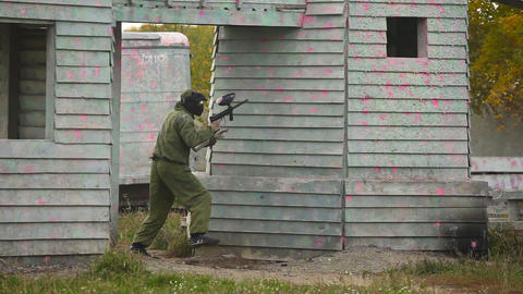 Paintball Stock Video Footage