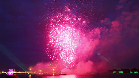 Fireworks in St Petersburg Stock Video Footage