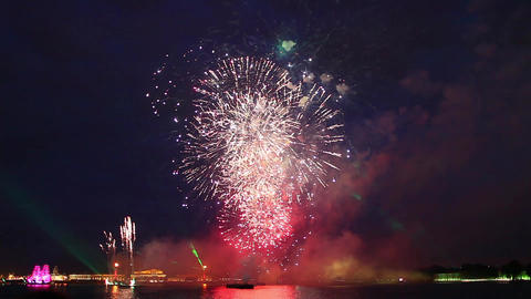 Fireworks in St Petersburg Footage