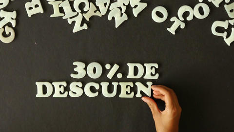 30 percent Discount (In Spanish) Stock Video Footage