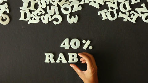 40 percent Discount (In German) Stock Video Footage