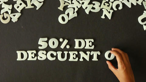 50 percent Discount (In Spanish) Stock Video Footage
