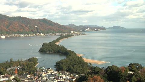 Amano hashidate in kyoto 天橋立 Stock Video Footage