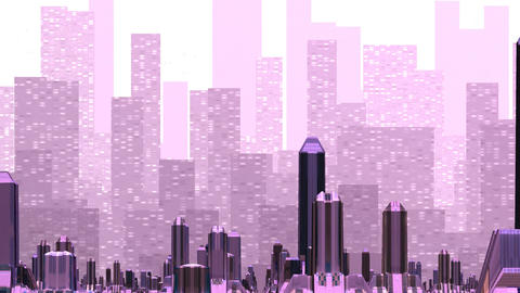 Mirage over the fantastic city Animation
