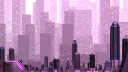 Mirage over the fantastic city Stock Video Footage