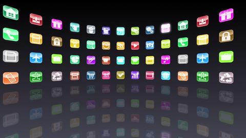 Smart Phone apps R Ac 1b 1 HD Stock Video Footage