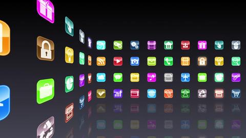 Smart Phone apps R Cs 1b 1 HD Stock Video Footage