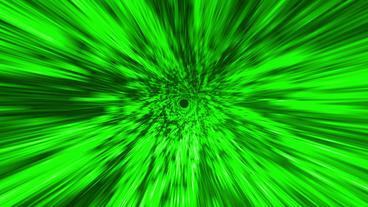 Star Burst Rays Tunnel Vortex Green Background Stock Video Footage