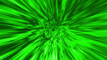 Star Burst Rays Tunnel Vortex Green Background stock footage