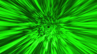Star Burst Rays Tunnel Vortex Green Background Stock Video Footage