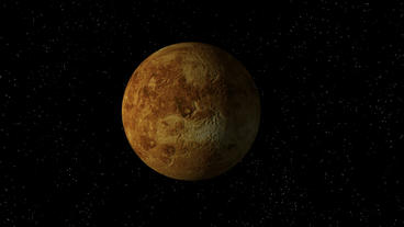 Venus No Atmosphere Rotating Seamless Loop Animation