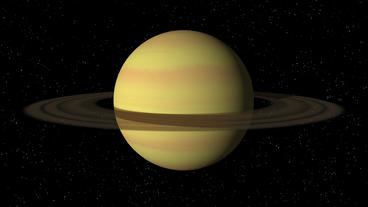 Saturn Rotating Seamless Loop Stock Video Footage