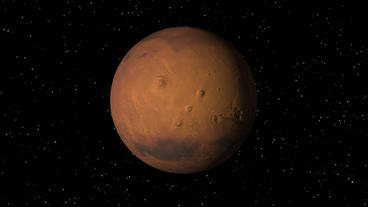 Satellite Approaches Mars Stock Video Footage
