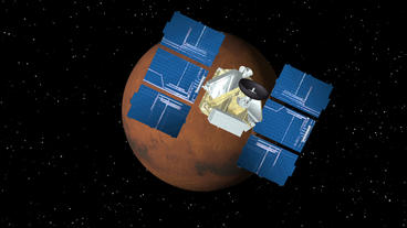 Satellite Approaches Mars Animation