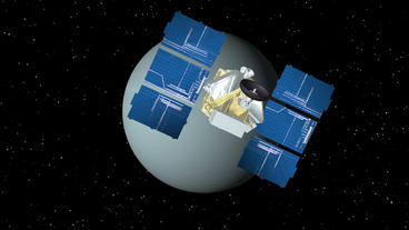 Satellite Approaches Uranus Animation