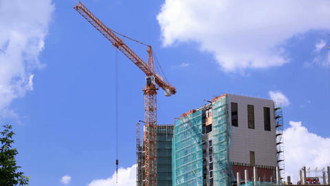 Crane And Construction Site 1 stock footage