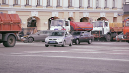 Russian road patrol service car Stock Video Footage