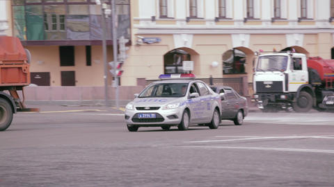 Russian Road Patrol Service Car stock footage