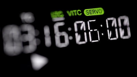 Timecode running on the professional vcr Footage