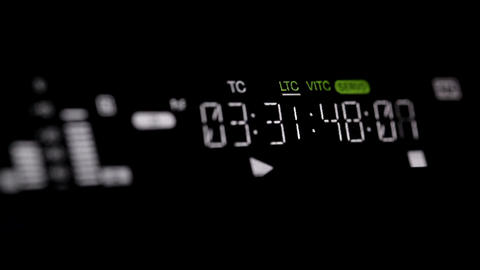Running timecode on the pro HD VCR Footage