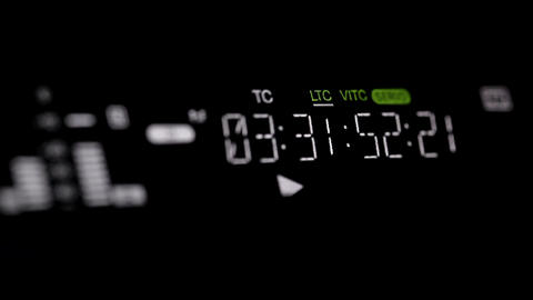 Running timecode on the pro HD VCR Stock Video Footage