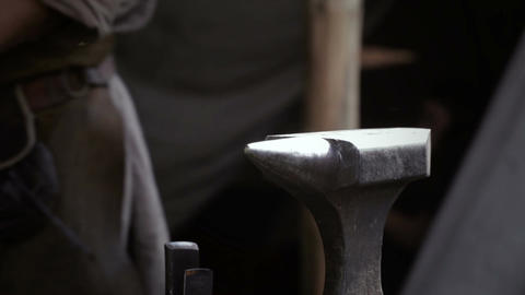 Blacksmith at work 2 Stock Video Footage