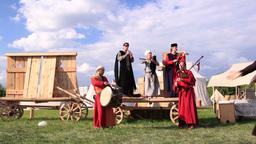 Folk musicians and woman dancer 1 GIF