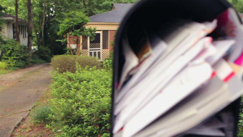 Tilt Focus Mailbox stock footage