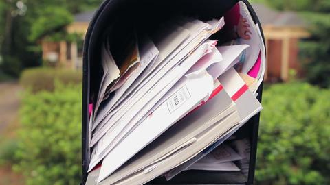 Tilt Focus Mailbox Stock Video Footage