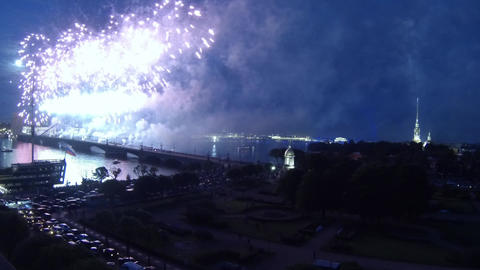 Fireworks time lapse Stock Video Footage