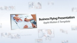 Business Flying Presentation II - Apple Motion and Final Cut Pro X Template Apple Motion Template